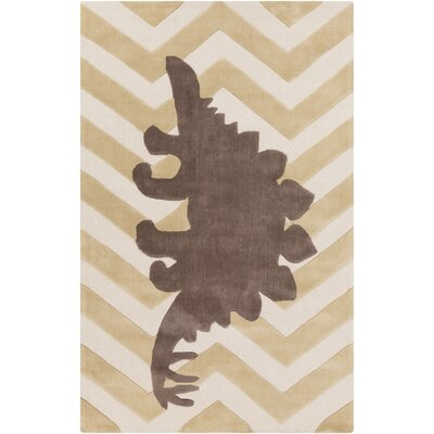 Bret Beige/Brown Area Rug Rug Size: Rectangle 36 x 56