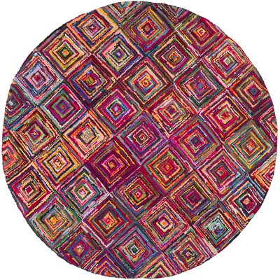 Tousana Handmade Magenta Area Rug Rug Size: Rectangle 56 x 86