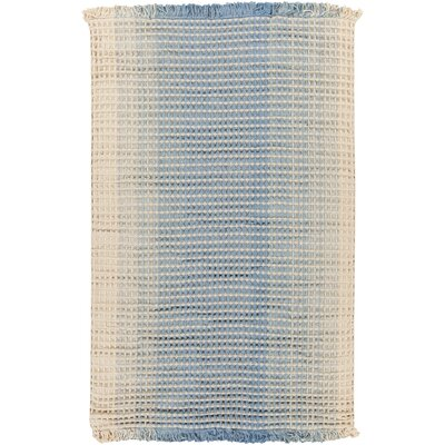 Rhiannon Hand-Woven Blue/Beige Area Rug Rug Size: Rectangle 5 x 8