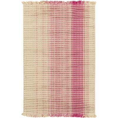 Rhiannon Hand-Woven Hot Pink Area Rug Rug Size: Rectangle 5 x 8