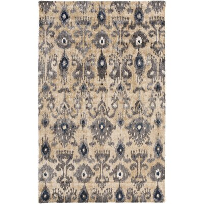 Alisha Beige/Gray Ikat Area Rug Rug Size: Rectangle 5 x 8