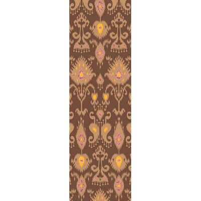 Alisha Brown Ikat Area Rug Rug Size: Runner 26 x 8