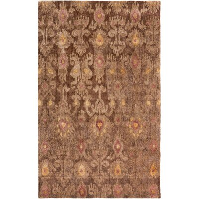 Alisha Brown Ikat Area Rug Rug Size: Rectangle 33 x 53