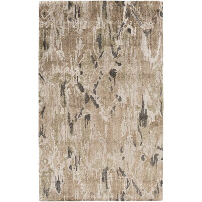 Scylla Mocha/Charcoal Area Rug Rug Size: Rectangle 33 x 53