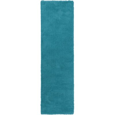 Braun Hand Woven Deep Sky Blue Area Rug Rug Size: Runner 23 x 8