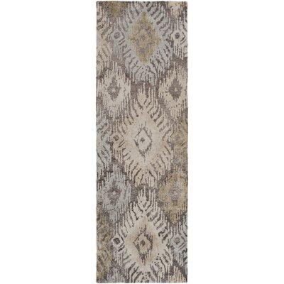 Alisha Silk Ikat Area Rug Rug Size: Runner 26 x 8
