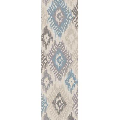 Alisha Handmade Silk Ikat Area Rug Rug Size: Runner 26 x 8