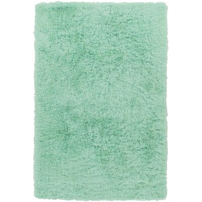 Carlene Hand-Tufted Mint Area Rug Rug Size: Rectangle 8 x 10