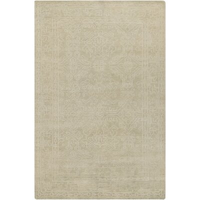 Moriarty Putty White Floral Area Rug Rug Size: 5'6
