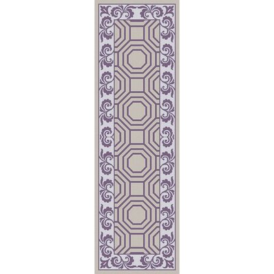 Morehead Light Gray/Violet Geometric Area Rug Rug Size: Runner 26 x 8