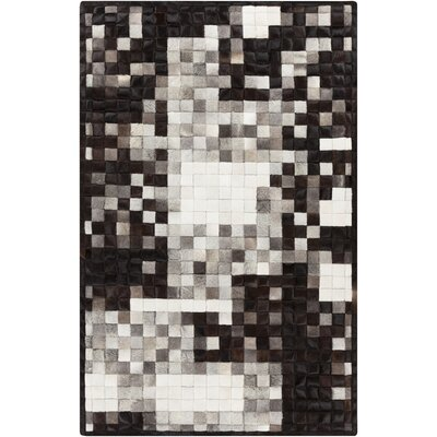 Bednar Black/Ivory Area Rug Rug Size: Rectangle 5 x 8