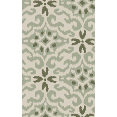 Wentworth Hand-Woven Green Area Rug Rug Size: 2 x 3