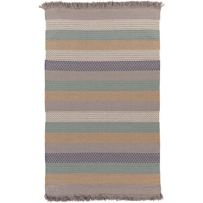 Ayana Hand-Woven Stripe Area Rug Rug Size: Rectangle 4 x 6