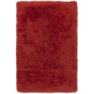 Carlene Hand-Tufted Coral Area Rug Rug Size: Rectangle 8 x 10