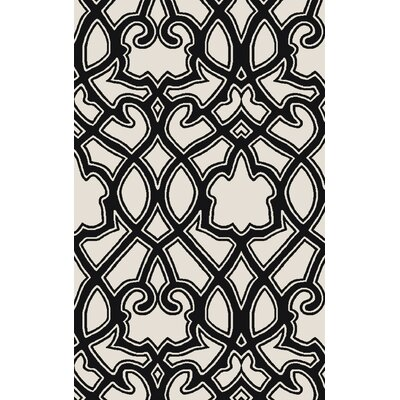 LaGrange Ivory/Black Area Rug Rug Size: Rectangle 2 x 3