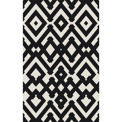 Hemel Handmade Black/Beige Geometric Area Rug Rug Size: Rectangle 5 x 8