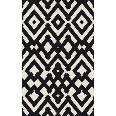 Hemel Handmade Black/Beige Geometric Area Rug Rug Size: 8 x 11