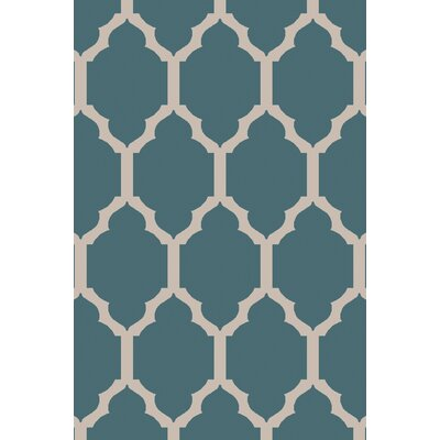 Shannon Teal Geometric Area Rug Rug Size: Rectangle 5 x 76