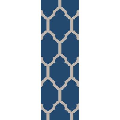 Shannon Navy Geometric Area Rug Rug Size: Runner 26 x 8