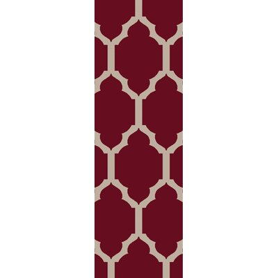 Shannon Burgundy Geometric Rug Rug Size: Rectangle 8 x 10