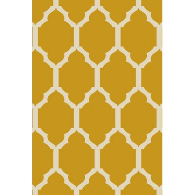 Shannon Gold Geometric Area Rug Rug Size: Rectangle 8 x 10