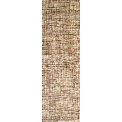 Finleyville Ivory/Taupe Solid Rug Rug Size: Runner 26 x 8