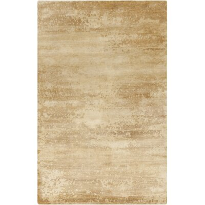 Chane Hand-Knotted Tan/Khaki Area Rug Rug Size: Rectangle 9 x 13