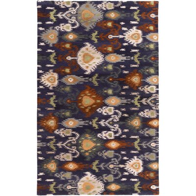 Alica Charcoal/Light Gray Ikat and Suzani Area Rug Rug Size: 5 x 8