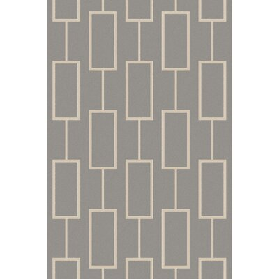 Aldred Gray Geometric Area Rug Rug Size: Rectangle 5 x 76