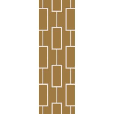 Aldred Hand-Tufted Olive/Beige Area Rug Rug Size: Runner 26 x 8