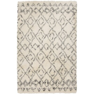 Santos Hand Woven Wool Ivory Area Rug Rug Size: Rectangle 5 x 8