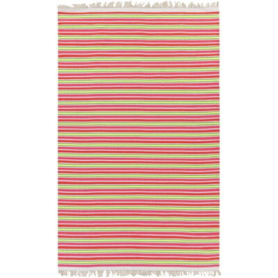 Carissa Ivory/Hot Pink Stripe Area Rug Rug Size: Rectangle 4 x 6