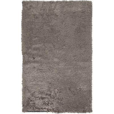 Wendi Charcoal Solid Area Rug Rug Size: Rectangle 2 x 3