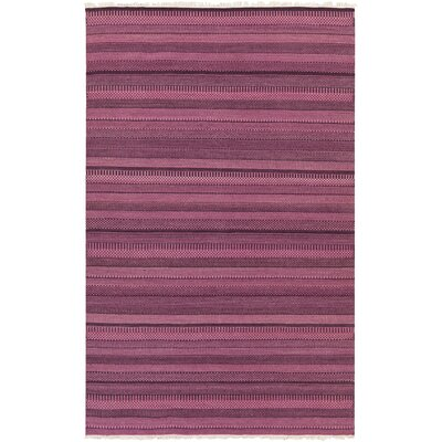 Barnesbury Mauve Striped Rug Rug Size: Rectangle 5 x 8