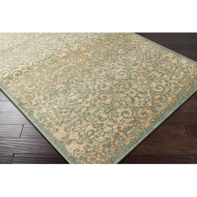 Bush Beige/Moss Area Rug Rug Size: Rectangle 76 x 106