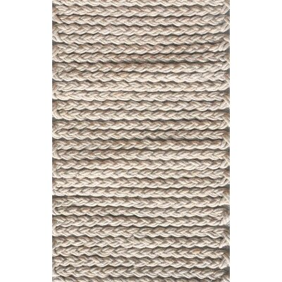 Stanford Hand Woven Wool Light Gray Area Rug Rug size: Rectangle 8 x 10