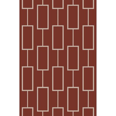 Aldred Burgundy Area Rug Rug Size: Rectangle 5 x 76