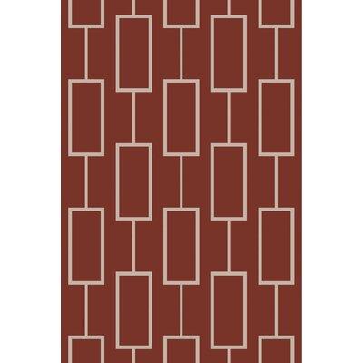 Aldred Burgundy Area Rug Rug Size: 8 x 10