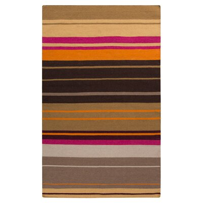 Fields Black Area Rug Rug Size: 8 x 11