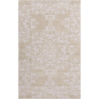 Kaufman Oyster Gray/Rose Mist Area Rug Rug Size: Rectangle 2' x 3'