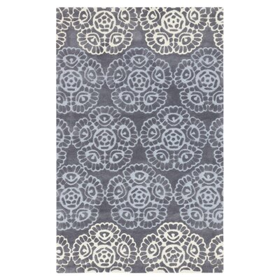 Kaufman Flint Gray/Light Gray Rug Rug Size: Rectangle 5 x 8