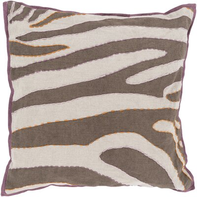 Cherrelle Linen Throw Pillow Size: 18 H x 18 W x 4 D, Color: Ivory / Taupe, Filler: Polyester