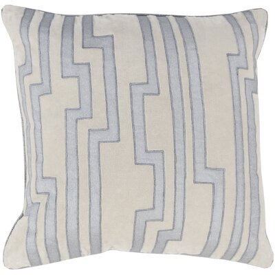Bornstein Throw Pillow Size: 18 H x 18 W x 4 D, Color: Light Gray, Filler: Down