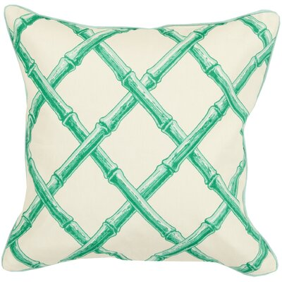 Homestead Cotton Throw Pillow Color: Mint, Filler: Down