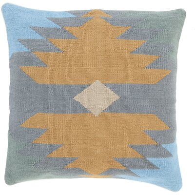Todd 100% Cotton Throw Pillow Size: 22 H x 22 W x 4 D, Color: Slate, Filler: Down