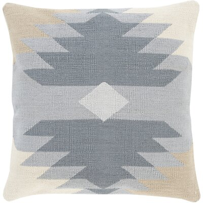 Todd 100% Cotton Throw Pillow Size: 18 H x 18 W x 4 D, Color: Light Gray, Filler: Down