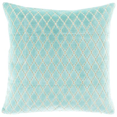 Boughton Cotton Throw Pillow Color: Mint, Filler: Polyester