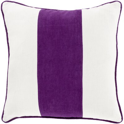 Pinkhead Linen Throw Pillow Size: 18 H x 18 W x 4 D, Color: Purple, Filler: Down