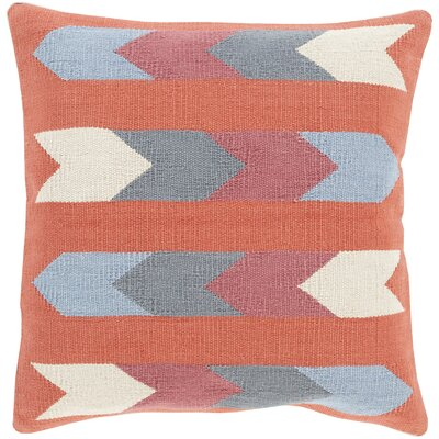 Todd Cotton Indoor Throw Pillow Size: 20 H x 20 W x 4 D, Color: Beige, Filler: Polyester