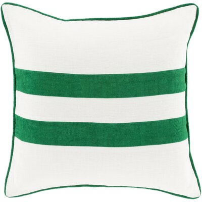 Nerys Linen Throw Pillow Size: 20 H x 20 W x 4 D, Color: Green, Filler: Down